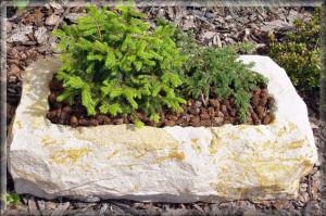 koryto z přírodního pískovce techtrade
